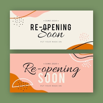 Re-opening soon banner template