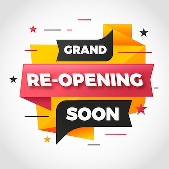 Re-opening soon banner theme