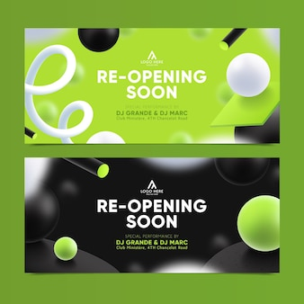 Re-opening soon banner