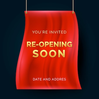Re-opening soon invitation banner