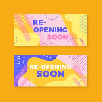Re-opening soon memphis banner collection