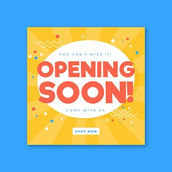 Re-opening soon with confetti background
