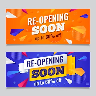 Re-opening sooner banner pack