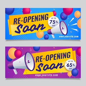 Re-opening sooner banner set