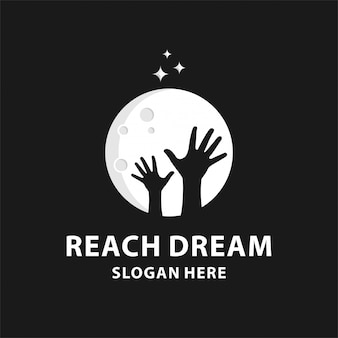 Reaching dream logo design.