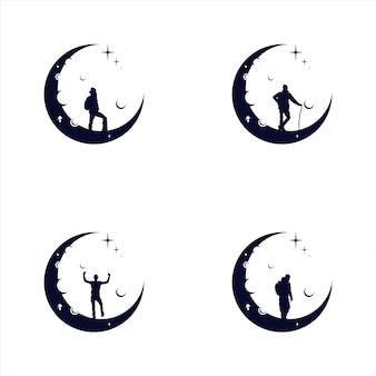 Reaching dream logo night dream logo for your brand