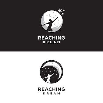 Reaching dream logo night dream logo