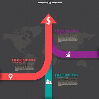 ビジネスプランの無料インフォグラフィック