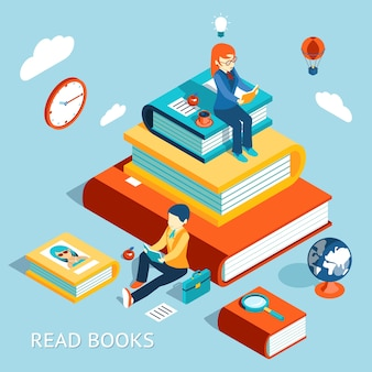 Read books concept. education and school, study and literature.