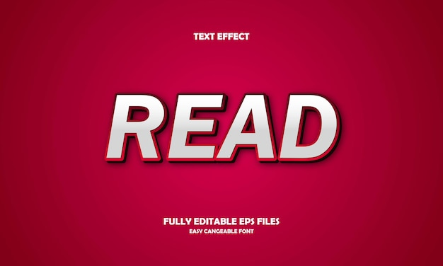 Read text effect