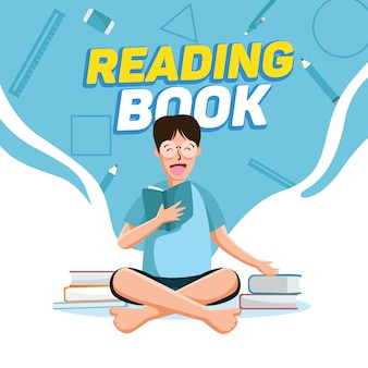 Reading book background