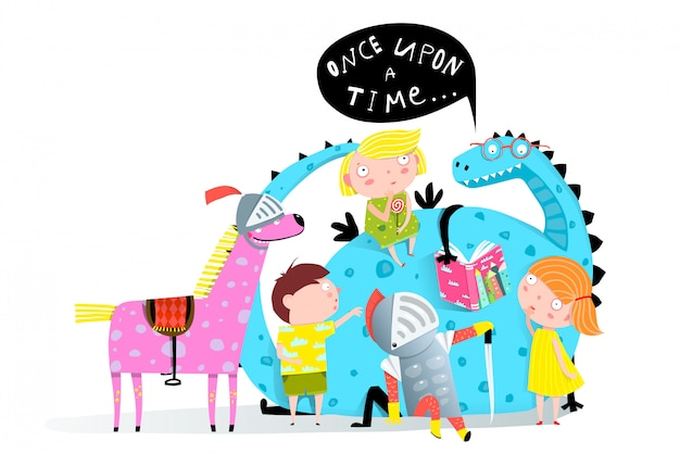 子供に本のドラゴンを読む