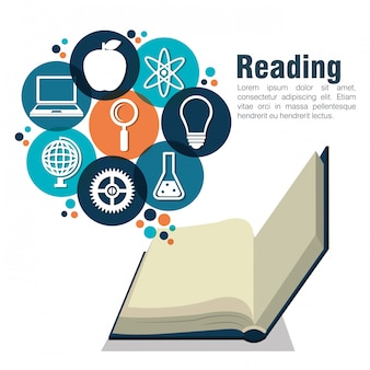 Reading books design