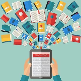 Reading books and e-books