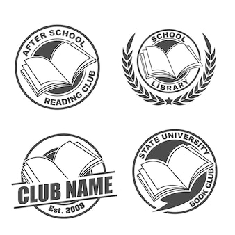 Reading club logo pack