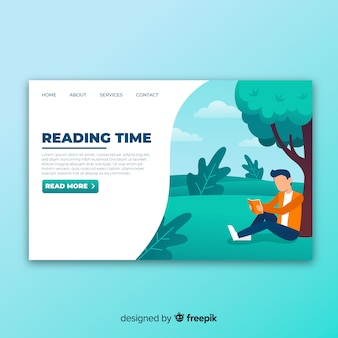Reading landing page