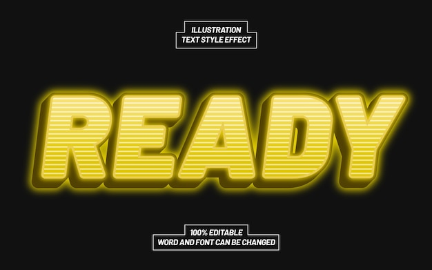 Ready 3d bold text style effect