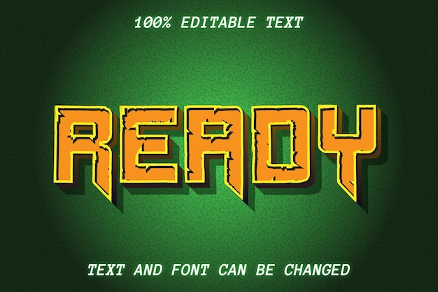 Ready complete editable text effect vintage style