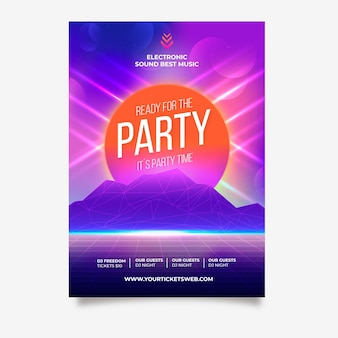 パーティー音楽ポスターの準備ができて