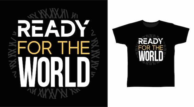 세계 타이포그래피 티셔츠 디자인 준비
