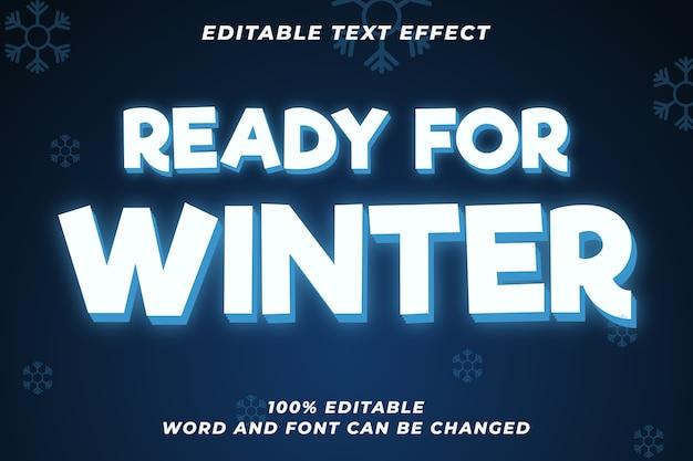 겨울을위한 준비 편집 가능한 텍스트 스타일 효과