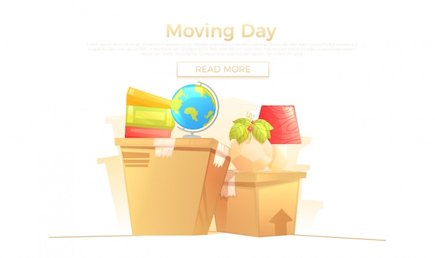 Ready move to new house banner concept
