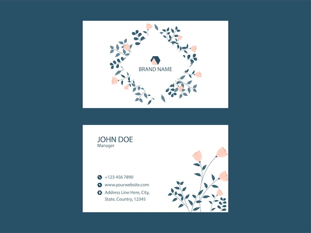Ready to print business card template layout in white color.