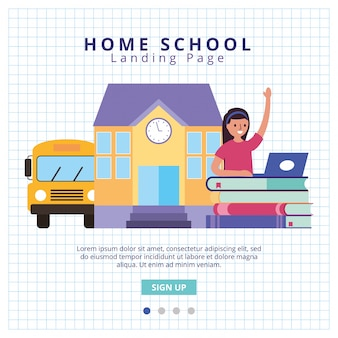 Ready for school landing page vector