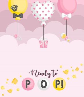 Ready to pop balloon card