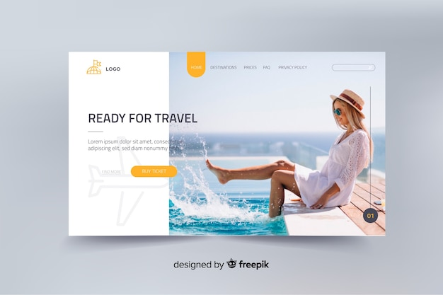 Ready for travel landing page