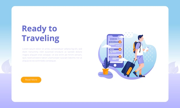Ready to traveling landing page
