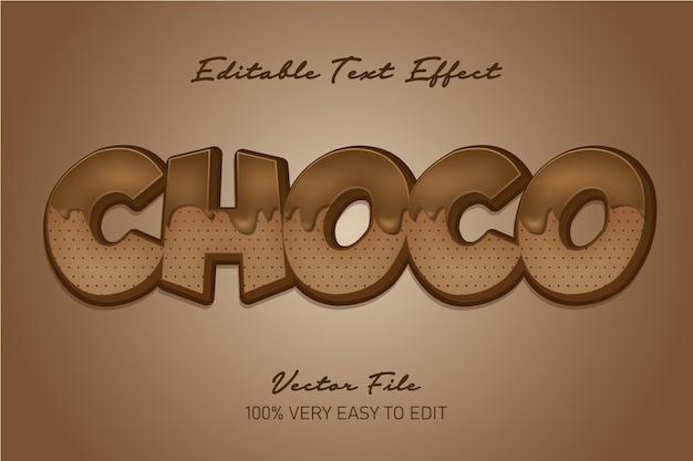 Настоящий 3d шоколадный текстовый эффект