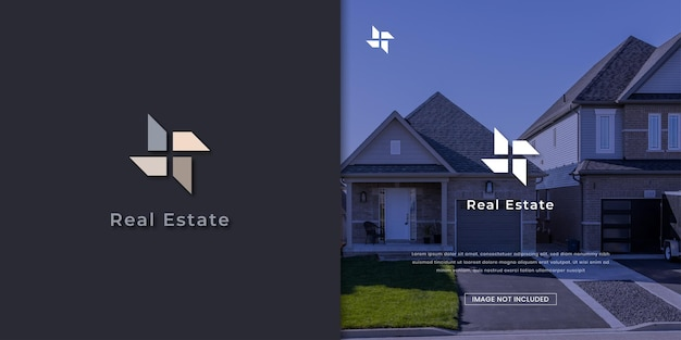 Real estate abstract and unique logo design template