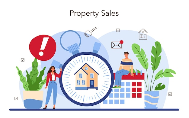 Real estate agency service assistance in property selling buyer