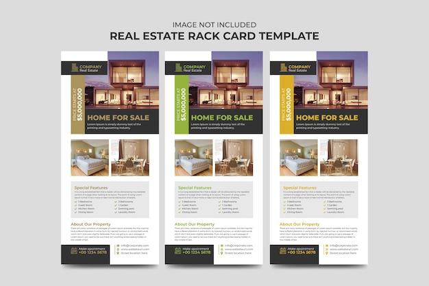 부동산 중개인 및 건설 비즈니스 랙 카드 또는 dl 전단지 템플릿