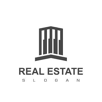 不動産とアパートのロゴのテンプレート