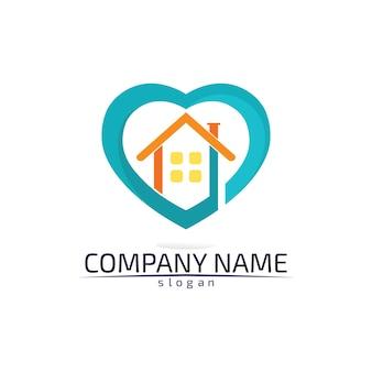 不動産や住宅のロゴアイコンテンプレート