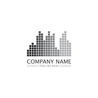 不動産や家の建物のベクトルのロゴアイコンテンプレート