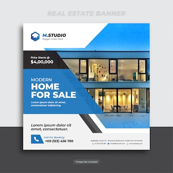 Real estate banner or flyer template