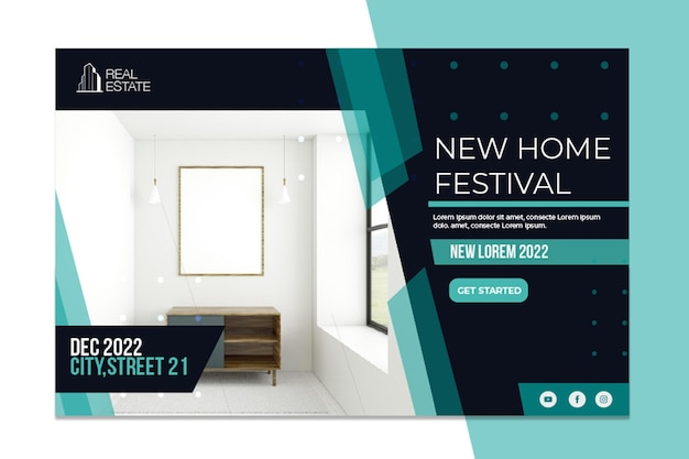 Real estate banner new home festival