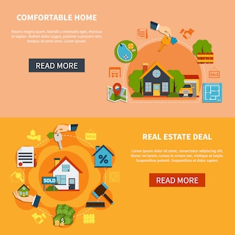 Real estate banners set