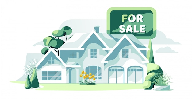 정원 고립 된 흰색 배경으로 판매 부동산 청와대