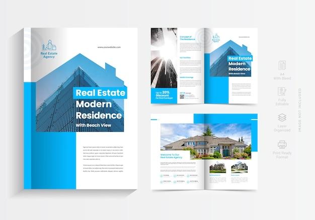 Дизайн шаблона брошюры по недвижимости