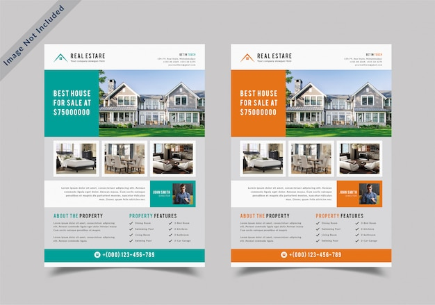 Real estate building flyer template Premium Vector