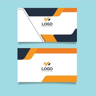 Шаблон визитной карточки недвижимости с вертикальной premium векторы