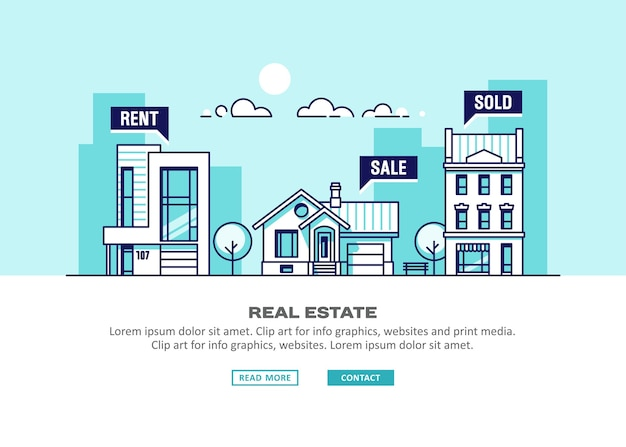 Бизнес-концепция недвижимости с домами.