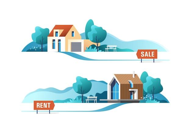 Бизнес-концепция недвижимости с загородными домами
