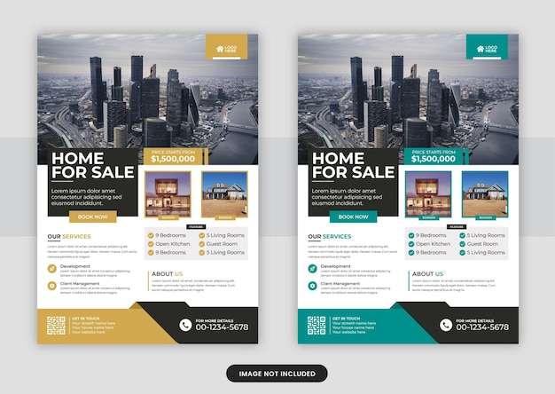 Real estate business flyer design and brochure cover page template