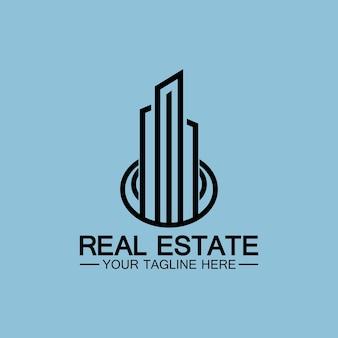 Дизайн векторной иллюстрации логотипа бизнеса недвижимости