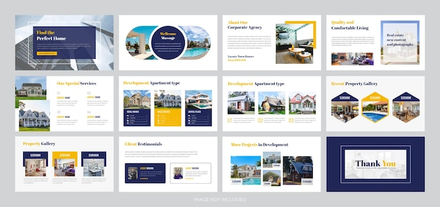 Real estate business presentation template